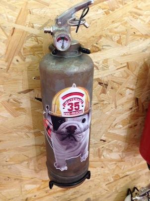 犬の消火栓