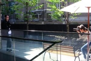 セレクトショップ前の撮影風景