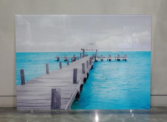桟橋のアート