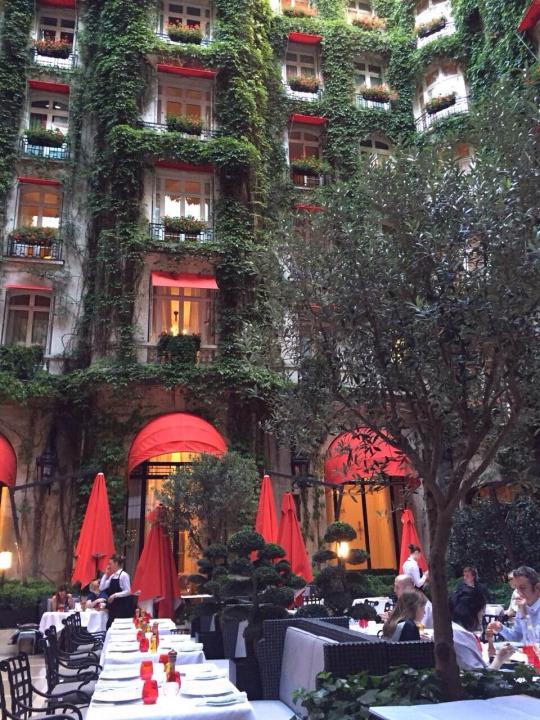 パリのおしゃれなレストラン